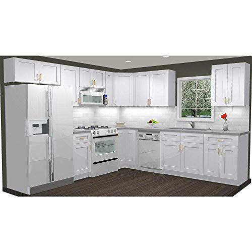 Lily Ann Cabinets 10x10 Wood Kitchen Cabinets Ready to Assemble (RTA) - Summit Shaker White