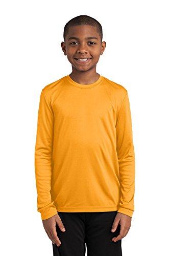 Sport-Tek Boys' Long Sleeve PosiCharge Competitor Tee S Gold