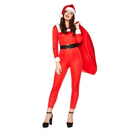 Karnival Kostuums 87004 CHRISTMAS MS SANTA JUMPSUIT Kostuum, Vrouwen, Rood en Wit, X-LARGE