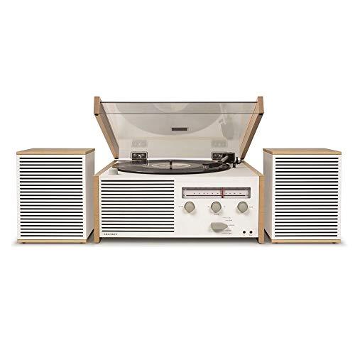 Crosley Switch II Bluetooth Plattenspieler im Retro Design mit FM/ AM Radio und externe Lautsprecher