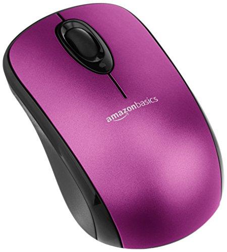 Amazon Basics - Mouse senza fili per computer, con microricevitore, viola