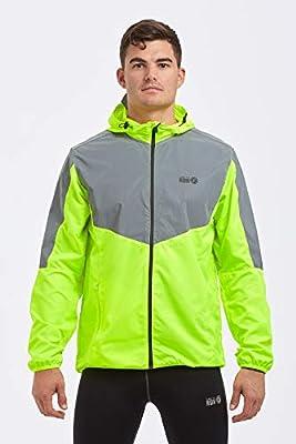 Time To Run Men's 2019 High Visibility Reflective Spirit Lightweight Running Jacket
