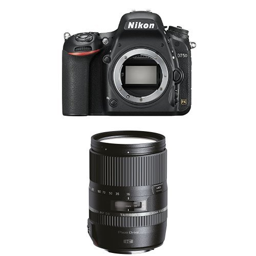 Nikon D750 SLR-Digitalkamera nur Gehäuse schwarz + Tamron 16-300mm Objektiv
