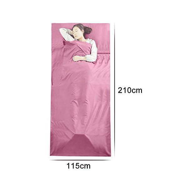 Queta cabaña Saco de Dormir Saco de Dormir Saco de Dormir con Bolsa Ideal para Interior hostels Cabañas albergues… 2