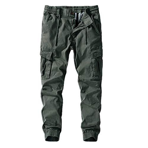U/A Pantalones de carga para hombre, pantalones de harén