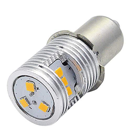 Ruiandsion Ampoule de lampe de poche LED 3 V P13.5S haute puissance CSP 9SMD Chipset de remplacement pour lampe frontale, lampe torche LED, kit de conversion ampoule, jaune (lot de 1)