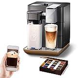Tchibo Qbo You-Rista Kaffee Kapselmaschine inkl. Milchaufschäumer - Amazon Alexa kompatibel (Echo Dot) Black Matt