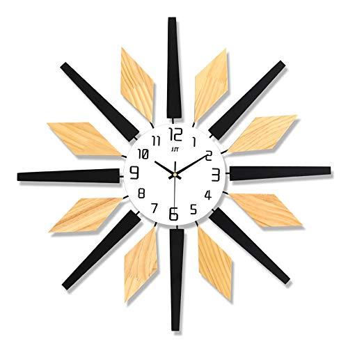 CMOIR Reloj de Pared para Sala de Estar y Dormitorio Personalizado nórdica Reloj de Cuarzo de la Sala Minimalista Moderno Creativo del Reloj de Pared for no tictac Reloj de Pared Decorativo