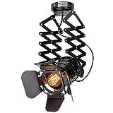 LED Luz de Techo Focos de techo Lámpara de techo,LED Plafón con Focos Vintage Industrial Lámpara Extensible Colgante Techo for Bar Restaurante Salón Lámparas de Techo Proyectores - ULB NO INCLUIDO