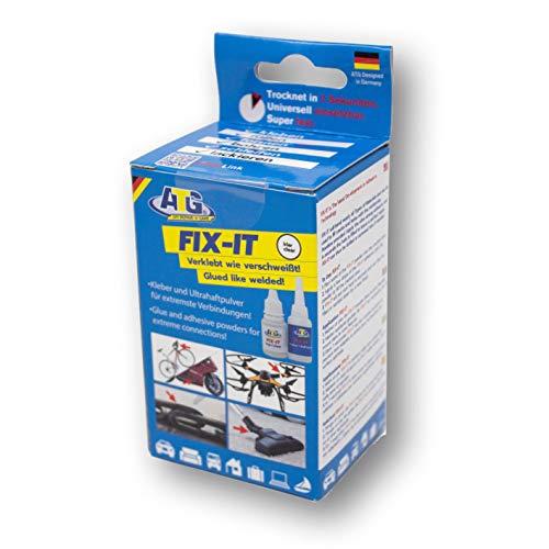 ATG Fix-IT Adesivo Industriale, istantaneo, Universale, con granuli Bianchi