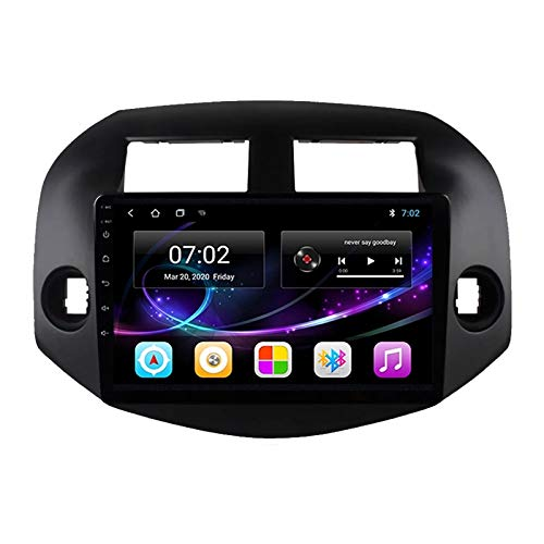 Radio Estéreo De Coche Bluetooth Apoyo De Reproductor MP5 Llamadas Manos Libres Radio FM Enlace Espejo/WiFi/AUX Entrada/1080P Video/SWC, para Toyota RAV4 2007-2012,Quad Core,WiFi 1+16