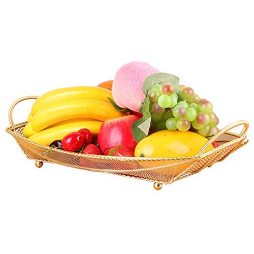 Panier à fruits Panier à fruits en métal Articles ménagers Vidange Assiette à fruits Bol à fruits creux Cuisine évidée Panier à légumes -0
