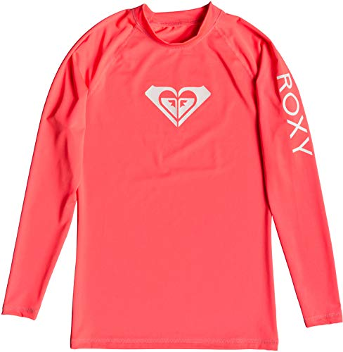 Roxy Whole Hearted L/SL Surf tee, Mujer, Fiery Coral