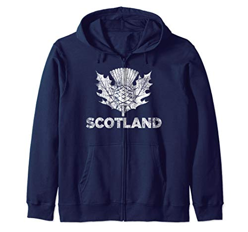 Vintage Scotland Rugby Shirt - Scottish Rugby Football Top Kapuzenjacke