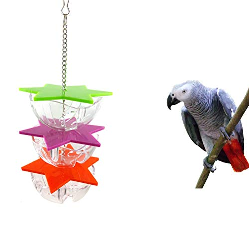 Bird Foraging Toys, 3-lagiger Papageien-Hanging Treat Futtersuche Toy Bird Feeder Futterhalter Papageienfutter-Futterbälle für Gartendekoration Vögel und Tiere