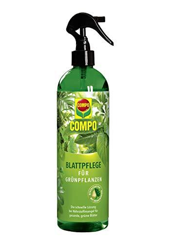 Compo Blattpflege für Grünpflanzen, Blattdünger für alle Grünpflanzen und Palmen, 500 ml