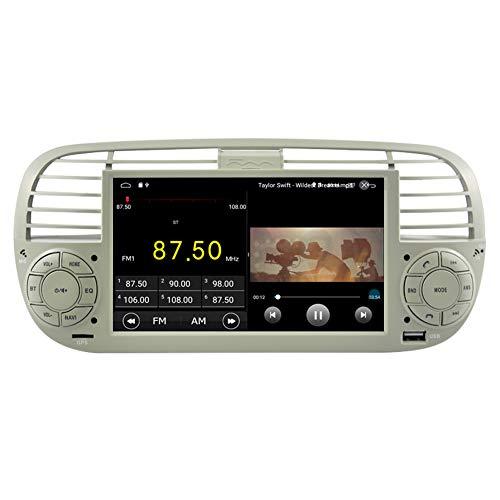 Autosion ANDROID 10.0 autoradio navigatore per Fiat 500 Fiat Abarth 500 2007-2015 GPS USB WI-FI Bluetooth Mirrorlink