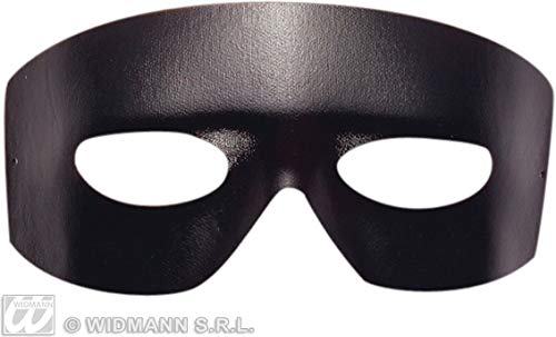 Widmann ? Masque Domino Zorro giustiziere mixte adulte, Noir, Taille unique, 6435b