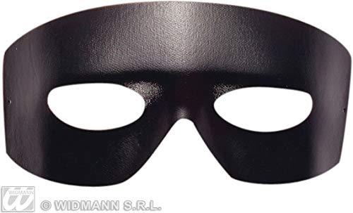 Widmann–Zorro Maske Domino Liquidator Unisex Erwachsene, schwarz, One Size, 6435b