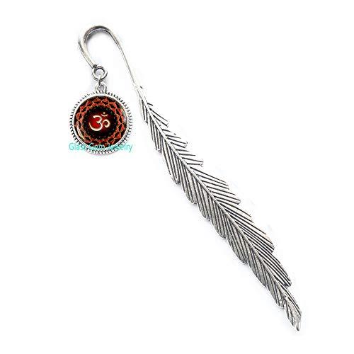 Segnalibro con simbolo Om, segnalibro Namaste, segnalibro Zen, gioielli per yoga, buddisti, Om Charm, segnalibro da uomo, Q0037