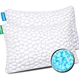 Cooling Bed Pillows for Sleeping 2 Pack Shredded Memory Foam Pillows with Adjustable Loft, Bamboo Pillows Gel Pillow for Back Side Stomach Sleepers Queen Shredded Memory Foam Bed Pillow