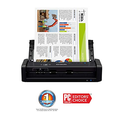 Epson WorkForce ES-300W Wireless Color Portable Document Scanner with ADF for PC and Mac, Sheet-fed and Duplex Scanning Louisiana