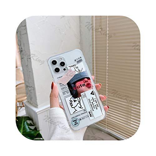 Fundas de teléfono con etiqueta de código de barras para iPhone 12 Mini 11 Pro XS MAX XR X 8 7 Plus SE 2020 transparente TPU suave cubierta - 2-para iPhone 12Pro