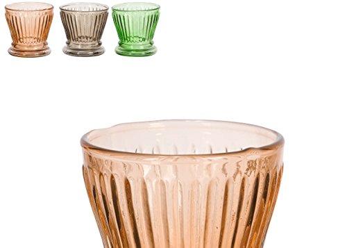 Comptoir de famille Porte-bougies cylindrique en verre pour bougies Tea Lite, couleurs assorties