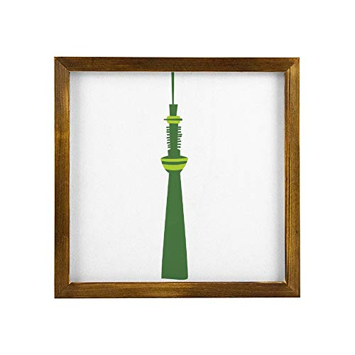 No-branded Wooden Message Board Sign, Wood Frame, Wall Mount, with Display StandTokyo Toky Sky Tree