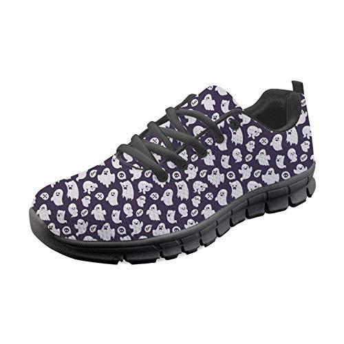 Coloranimal, Zapatillas de Correr para Mujer, Kawaii Boo, patrón de Caza de...