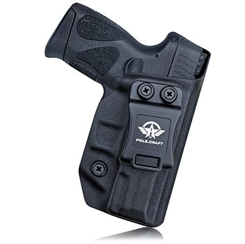 Taurus G2C Holsters, Kydex IWB Holster For Taurus G2C 9mm & Millennium PT111 G2 / PT140 Pistol Case - Concealed Holster Taurus G2C 9mm - Kydex Holster Taurus PT111 Concealed Carry (Black, Right Hand)