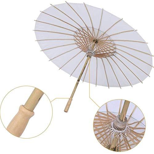Papier Regenschirm Sonnenschirm Tanz Fotografie Kunst Zubehör Party Dekoration Weiß, (Halbmesser42cm),Weiß