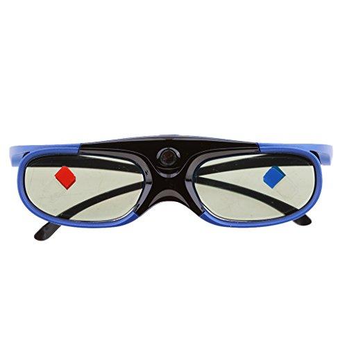 H HILABEE Gafas 3D DLP Link Recargables para Todos Los Proyectores 3D (Benq, Optoma, Acer, Vivitek, DELL Etc) Y Todos Los Televisores 3D DLP HD (Mitsubishi, Etc