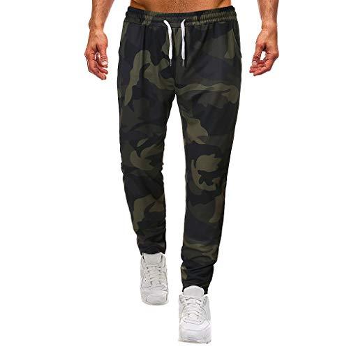 Herren Hose Leisure Pants Herren Relaxed Hose,Tarnunghose der Männer Männer Casual Camouflage Print Kordelzug elastische Taille lange Hose
