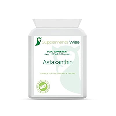 Astaxanthin 4mg Soft Gels (60) - Powerful Super Antioxidant Supplement with Vitamin E - Supports a Healthy Immune System - Beneficial for Eye Health