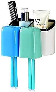 HYY-AA Dispositivo Dental Box Baño Diente de la Cremallera del Cilindro de Almacenamiento de los titulares de Cepillo de D...