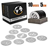 Earth's Dreams Holiday Cookie Press Discs – 10 Piece Stainless Steel Cookie Disc Set for All...