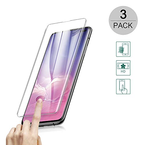 BestCatgift Galaxy S10 5G [3-Pack] Curved Tempered Glass Screen Protector Film per Samsung S10 5G with [9H Hardness][Full Screen Protection][Ultra Clear][Anti Scratch][Fingerprint Identification]