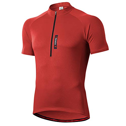 FEIXIANG Maglia Ciclismo Maniche Corte, Maglietta Mountain Bike Uomo Asciugatura Veloce T-Shirt off-Road Sportswear Estate