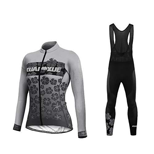 Uglyfrog Invierno Thermo Fleece Ciclismo Ropa Maillot Mujer Jersey+Pantalones Largos Culote de...