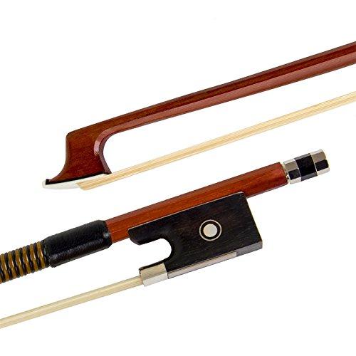 Kmise Geigenbogen Violinenbogen 4/4 Größe Brasilholz Bogen für Geige Fiddle mit Mongolisch Rosshaar Ebenholzfrosch für Anfänger
