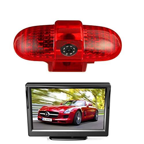 """HD 720p Dachkante Einparkhilfe Rückfahrkamera integriert in 3. Bremsleuchte Kamera für Renault Trafic, Opel Vivaro, FIAT Talento, Nissan Primastar+5.0\"""" Zoll DVD Monitor TFT Bildschirm LKW KFZ LCD"""