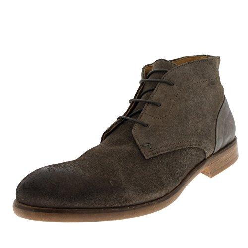 Mens H By Hudson Ryecroft Suede Lace Up Smart Formal Work Chukka Boots - Stone - 8