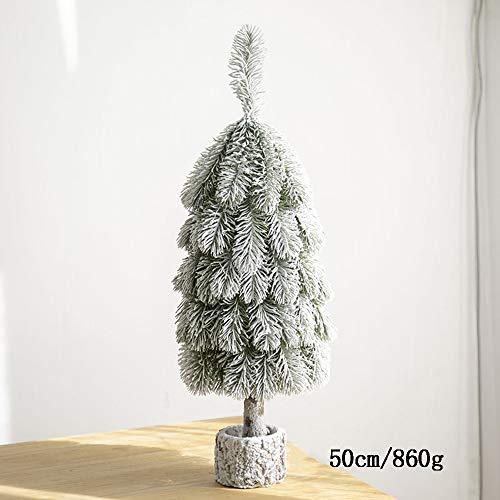 LOVE-CUSHION Kleine Versierde Binnen Kerstboom, Vallen Sneeuw Flocking Desktop Groen Pine Kerstboom Voor Desktop Decoratie Raam Decoratie Kerstboom Decoratie