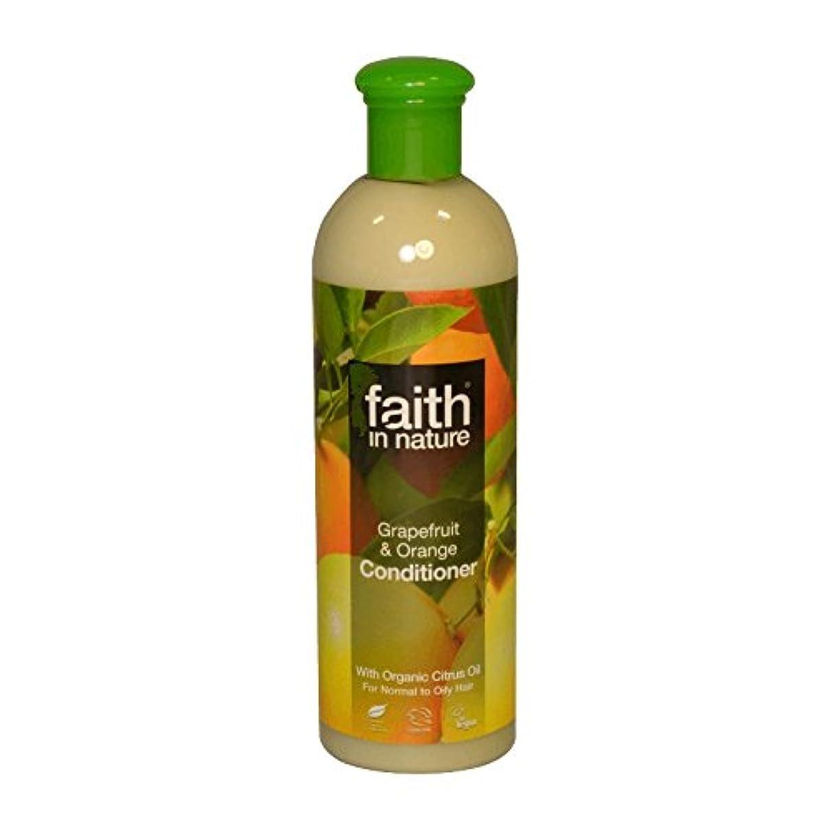 蛾まだ小人自然グレープフルーツ&オレンジコンディショナー400ミリリットルの信仰 - Faith in Nature Grapefruit & Orange Conditioner 400ml (Faith in Nature) [並行輸入品]
