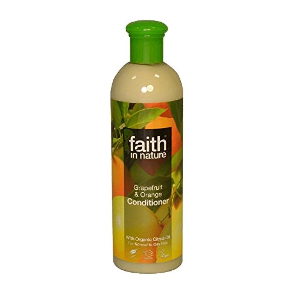 パース便利すごいFaith in Nature Grapefruit & Orange Conditioner 400ml (Pack of 6) - 自然グレープフルーツ&オレンジコンディショナー400ミリリットルの信仰 (x6) [並行輸入品]