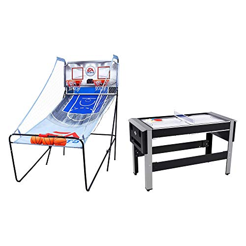 Review Lancaster Bowling, Hockey, Table Tennis Table Bundle w/ Basketball Arcade Game