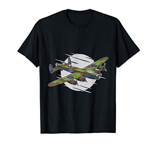 British World War II Royal Air Force Lancaster Bomber Camiseta