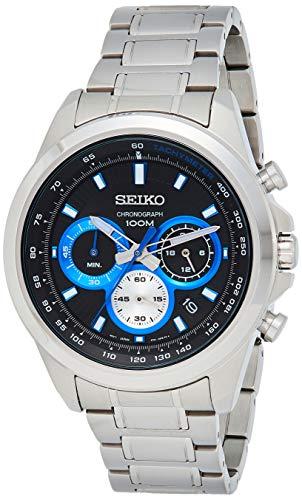 Seiko Herren Chronograph Quarz Uhr mit Edelstahl Armband SSB243P1