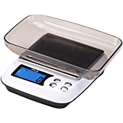 Corlfe Digital Kitchen Scale 5kg x 1g/0.1oz with Clear Tray and 2 AA Battery for Home Cooking Food Baking Jewelry